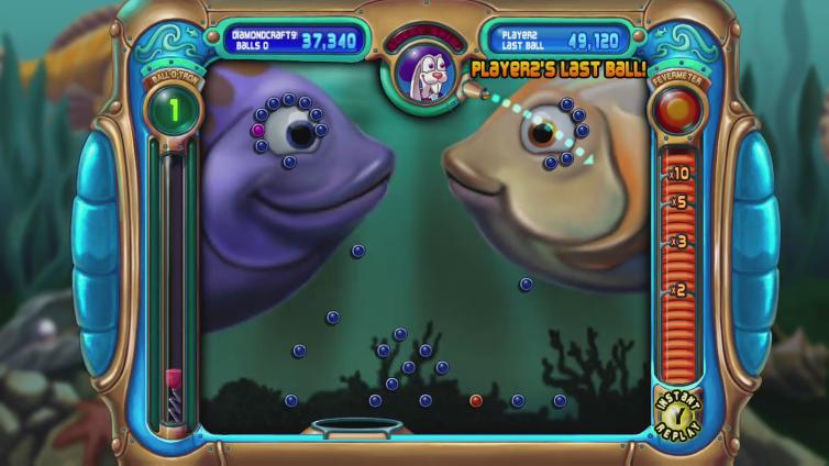 DiamondCraft998 playing Peggle